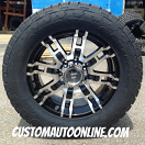 20x9 Helo HE835 Black - LT305/55r20 Nitto Terra Grappler