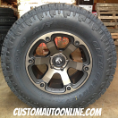 18x9 Fuel Beast D564 Black with Dark Tint Machined - 35x12.50r18 Toyo Open Country AT2