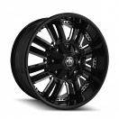 Mayhem Assault 8070 - Black with Chrome Inserts