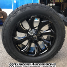 20x9 Fuel Stryker D571 Black - 305/50r20 Nitto Terra Grappler G2