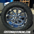 20x9 XD Badlands 779 Chrome - LT305/55r20 Toyo Open Country ATII Extreme