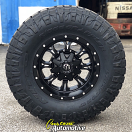 17x9 Fuel Offroad D517 Krank Black and Milled - LT315/70r17 Nitto Ridge Grappler