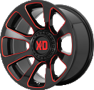 XD Reactor 854 - Gloss Black and Milled with Red Tint