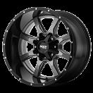 Moto Metal MO970 - Gloss Gray and Black