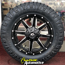 20x9 Fuel Maverick D538 Matte Black and Milled - LT275/65r20 Nitto Ridge Grappler