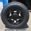18x9 KMC XD Rockstar II RS2 811 Black - LT285/65r18 Nitto Terra Grappler G2