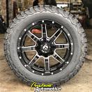 20x9 Fuel Maverick D610 Gloss Black and Milled - LT275/60r20 BFGoodrich All Terrain KO2