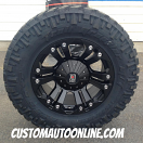 18x9 XD Monster 778 Black - LT285/65r18 Nitto Trail Grappler