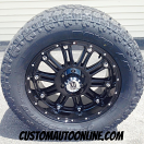 20x9 KMC XD Hoss 795 Black - LT305/55r20 Toyo Open Country AT2