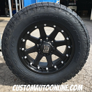 20x9 XD Addict 798 Black - LT295/60r20 Nitto Terra Grappler G2