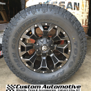 18x9 Fuel Assault D546 Black and Milled - LT285/65r18 Toyo Open Country ATII Extreme