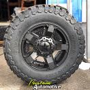 18x9 XD Rockstar II 811 RS 2 Black - LT295/70r18 Toyo Open Country MT