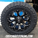 20x10 Fuel Assault D546 Black and Milled - 35x12.50r20 Toyo Open Country MT