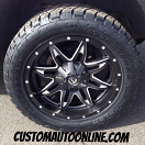 20x9 Fuel Offroad Lethal D567 Black - 285/50r20 Nitto Terra Grappler