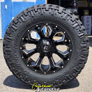 20x10 Fuel Assault D546 Black - 37x12.50r20 Nitto Trail Grappler