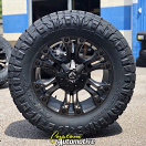 20x9 Fuel Vapor D569 Matte Black and Dark Tint Machined - 35x12.50r20 Nitto Ridge Grappler