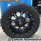 20x10 Fuel Offroad Krank D517 Black - 33x12.50r20 Federal Couragia MT