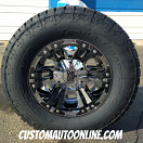 18x10 XD Monster 2 XD822 PVD Chrome with Black Inserts - LT325/60r18 Nitto Terra Grappler G2