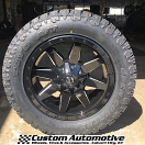 20x9 Fuel Offroad Wildcat D597 Black and Milled - LT285/55r20 Toyo Open Country AT2 Extreme