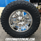 20x10 Fuel Hostage D530 Chrome - 37x13.50r20 Toyo Open Country MT