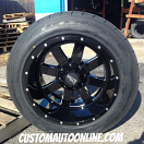20x12 Moto Metal MO962 Black and Milled - 305/50r20 Nitto NT420S