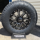 17x9 Helo HE879 Black - LT285/70r17 Toyo Open Country AT 2