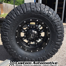 17x9 Fuel Offroad Krank D517 Black/Milled - 35x12.50r17 Nitto Ridge Grappler