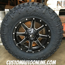 18x9 Fuel Maverick D538 Black - LT275/70r18 Nitto Trail Grappler