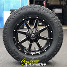 20x9 Fuel Maverick D538 Black and Milled - LT295/60r20 Toyo Open Country AT II Extreme