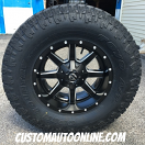 18x9 Fuel Maverick D538 Black and Milled - 35x12.50r18 Toyo Open Country AT2 Extreme