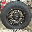 18x9 Fuel Coupler D556 Black with Dark Tint Machined - LT285/65r18 Nitto Terra Grappler G2
