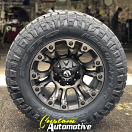 18x9 Fuel Vapor D569 Black with Dark Tint Machined - LT275/70r18 Nitto Ridge Grappler