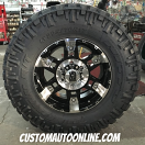 17x9 KMC XD Series Spy 797 Black - LT295/70r17 Nitto Trail Grappler