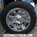 20x10 Fuel Offroad Hostage D530 Chrome - 33x12.50r20 Fuel Mud Gripper MT