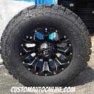 17x9 Fuel Offroad Assault D546 Black - 285/70r17 Wild Country MTX