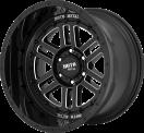 Moto Metal MO800 Deep Six - Gloss Black and Milled