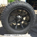 20x10 Fuel Coupler D556 Black with Dark Tint Machined - 35x12.50r20 Toyo Open Country AT II