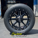 20x10 Fuel Offroad Maverick D538 Black and Milled - 305/50r20 Nitto NT420V