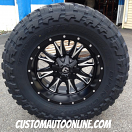 20x10 Fuel Throttle D513 Black - 37x13.50r20 Toyo Open Country MT