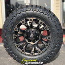 18x9 Fuel Vapor D569 Black with Dark Tint Machined - LT275/65r18 Toyo Open Country MT tires