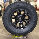 18x9 Fuel Vapor D560 Black - 35x12.50r18 Nitto Ridge Grappler