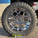 20x10 Moto Metal MO981 Spade Chrome - 33x12.50r20 Toyo Open Country MT