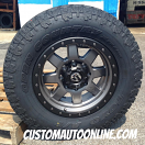 18x9 Fuel Offroad Trophy D552 Anthracite with Black Bead Lock - LT285/65r18 Toyo Open Country AT2