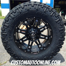 20x10 Fuel Hostage D531 Black - 37x12.50r20 Nitto Trail Grappler