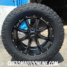 20x10 Moto Metal MO970 Black and Milled - LT305/55r20 Toyo Open Country AT2 Extreme