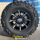 17x9 Helo Maxx HE791 Black and Milled - 35x12.50r17 Nitto Mud Grappler Extreme MT