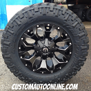 18x9 Fuel Assault D546 Black - LT285/65r18 Nitto Trail Grappler