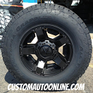 18x9 XD Rockstar II 811 RS 2 Black - LT295/70r18 Nitto Terra Grappler