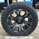 20x10 Fuel Vapor D569 Black with Dark Tint Machined - 33x12.50r20 Toyo Open Country MT