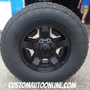 17x8 XD Rockstar 2 XD811 Black - 285/70r17 Nitto Terra Grappler G2